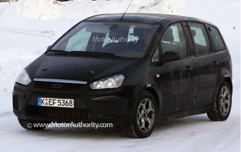 spy shots 2011 ford c max test mule. Black Bedroom Furniture Sets. Home Design Ideas