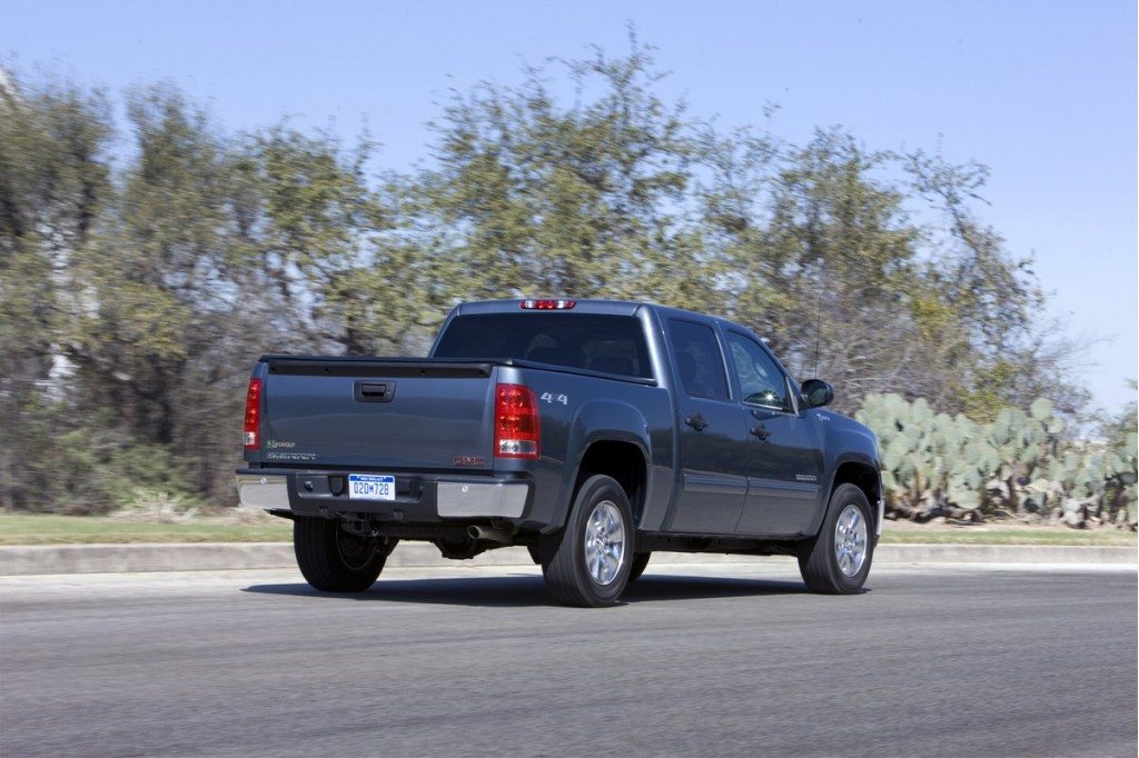 2011 gmc sierra 1500 hybrid pictures photos gallery motorauthority. Black Bedroom Furniture Sets. Home Design Ideas