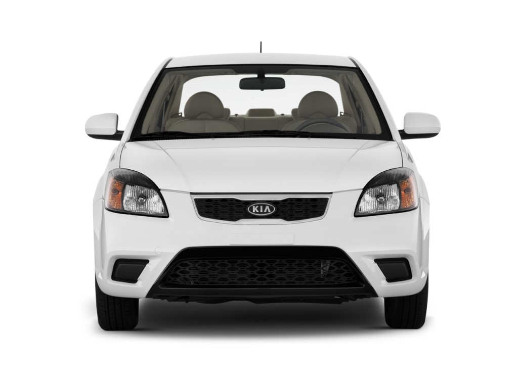 2011 kia rio 4 door sedan lx front exterior view. Black Bedroom Furniture Sets. Home Design Ideas