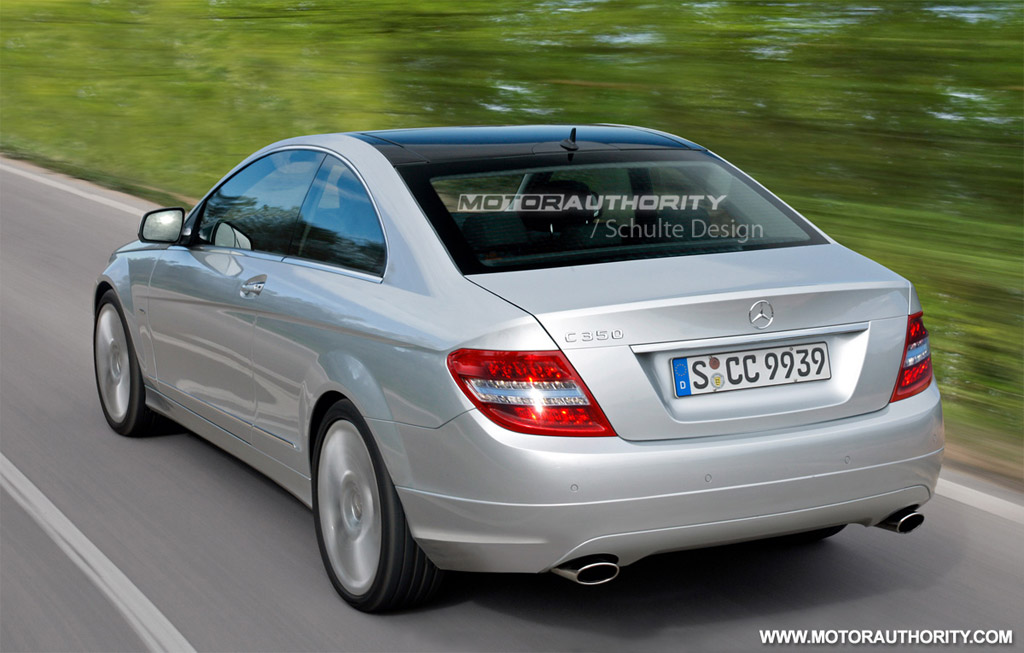 rendered 2011 mercedes benz c class coupe. Black Bedroom Furniture Sets. Home Design Ideas