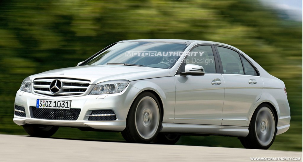 preview mercedes benz c class facelift. Black Bedroom Furniture Sets. Home Design Ideas