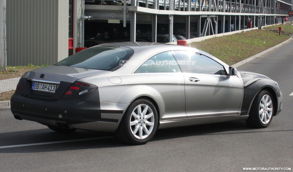 2011 Mercedes-Benz S-Class Coupe spy shots