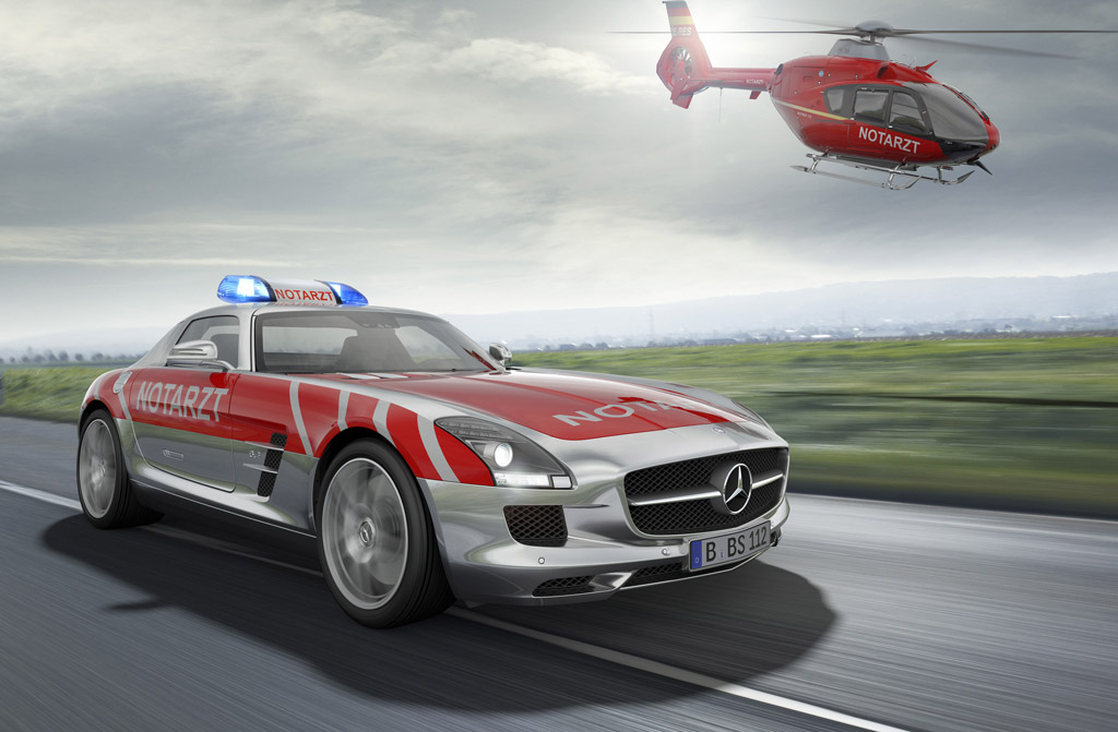 mercedes benz sls amg envisioned as medical emergency vehicle. Black Bedroom Furniture Sets. Home Design Ideas