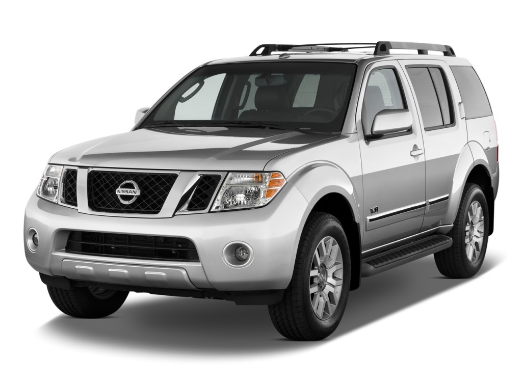 2011 nissan pathfinder 4wd 4 door v8 le angular front exterior view. Black Bedroom Furniture Sets. Home Design Ideas
