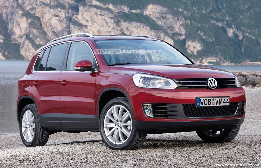 rendered 2011 volkswagen tiguan facelift. Black Bedroom Furniture Sets. Home Design Ideas