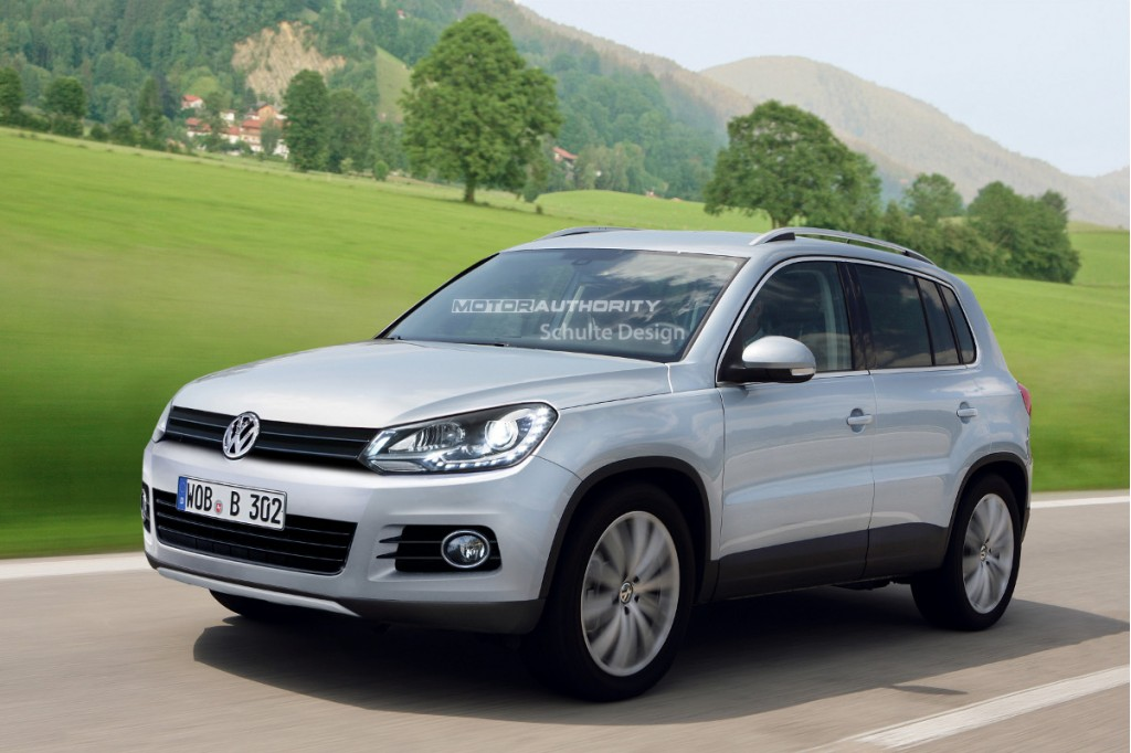 Rendered 2011 Volkswagen Tiguan Facelift