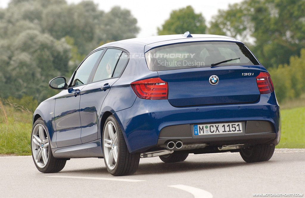 Rendered 2012 Bmw 1 Series Hatchback
