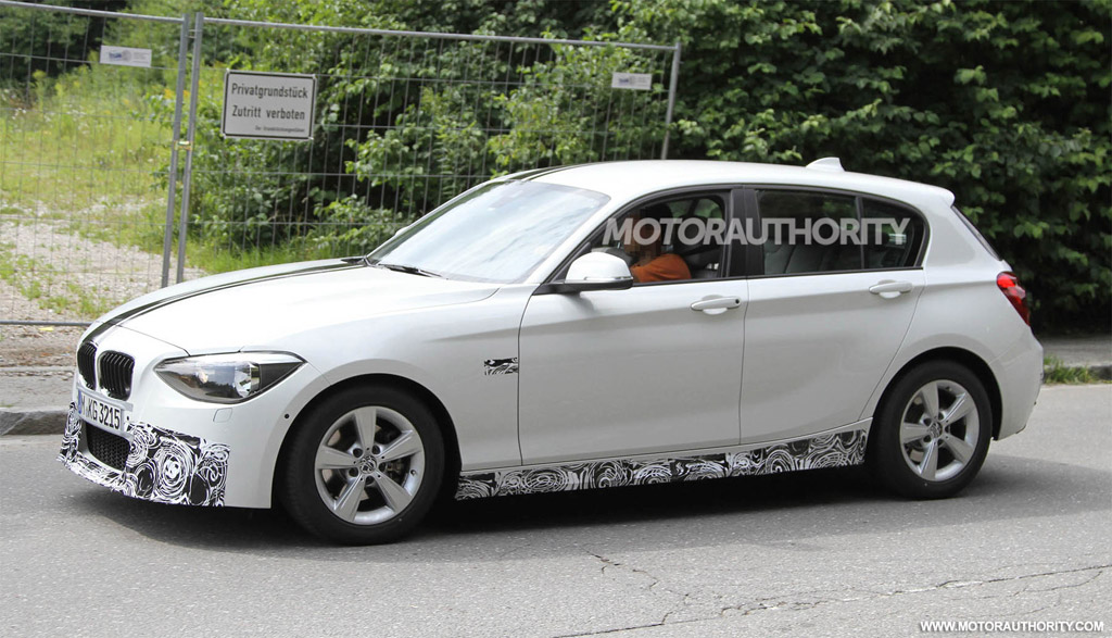 2012 bmw 1 series hatchback m sport package spy shots. Black Bedroom Furniture Sets. Home Design Ideas