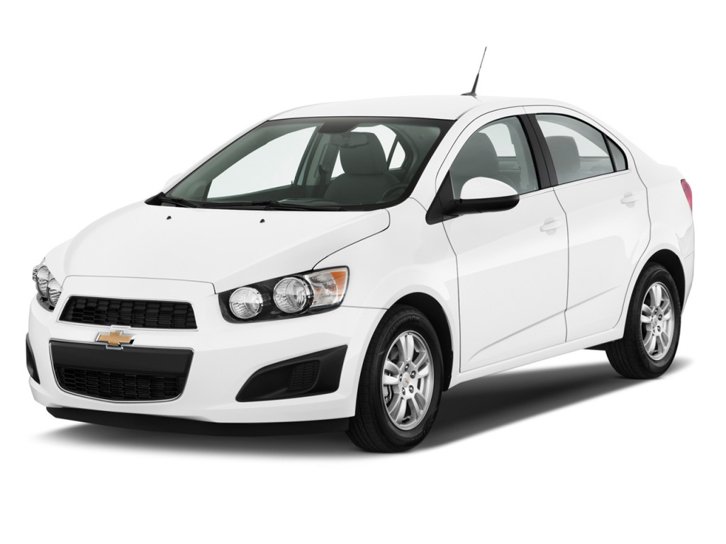 Angular Front Exterior View - 2012 Chevrolet Sonic 4-door Sedan 1LT