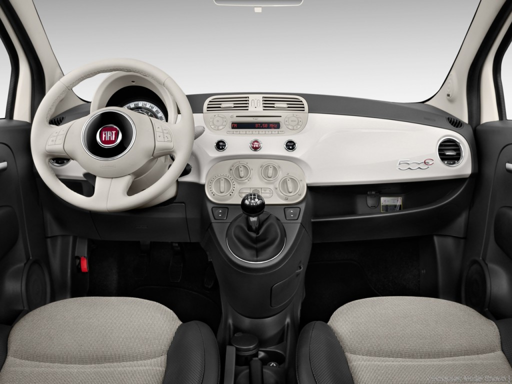 Image 2012 Fiat 500 2 Door Convertible Lounge Dashboard