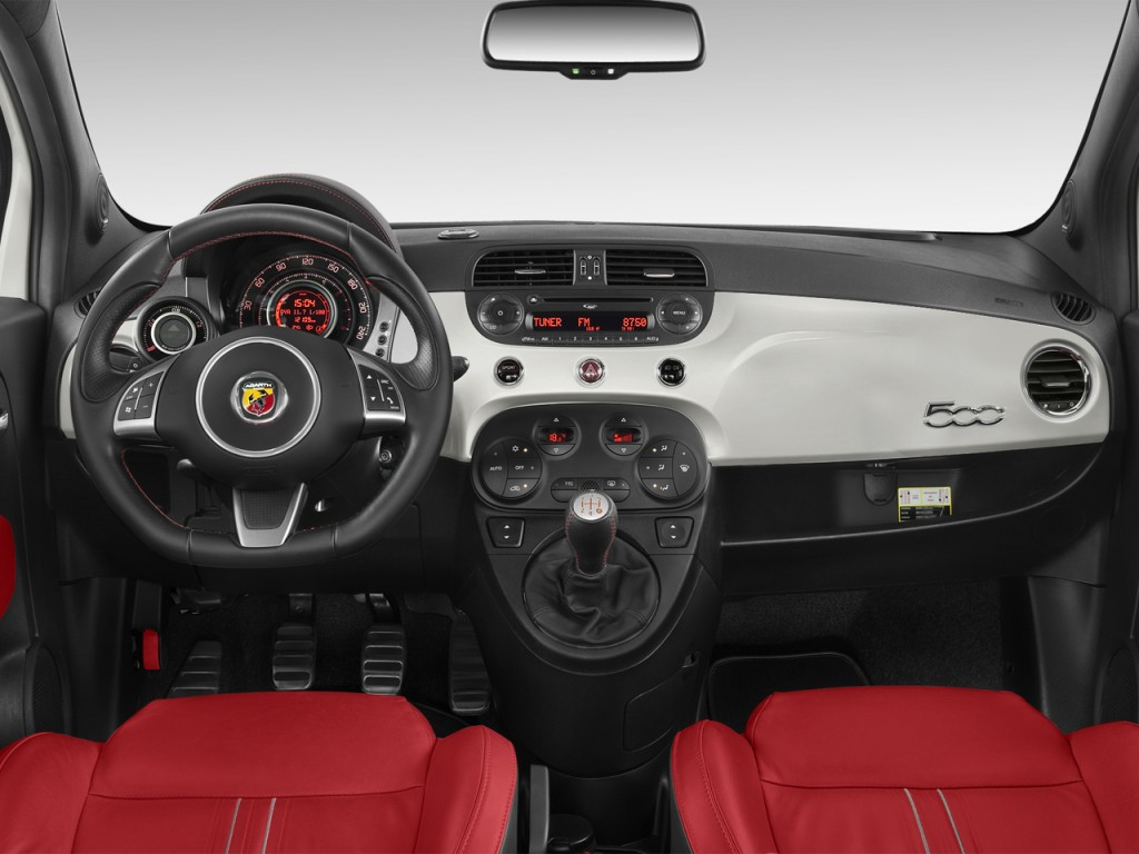 Image 2012 Fiat 500 2 Door Hb Abarth Dashboard Size