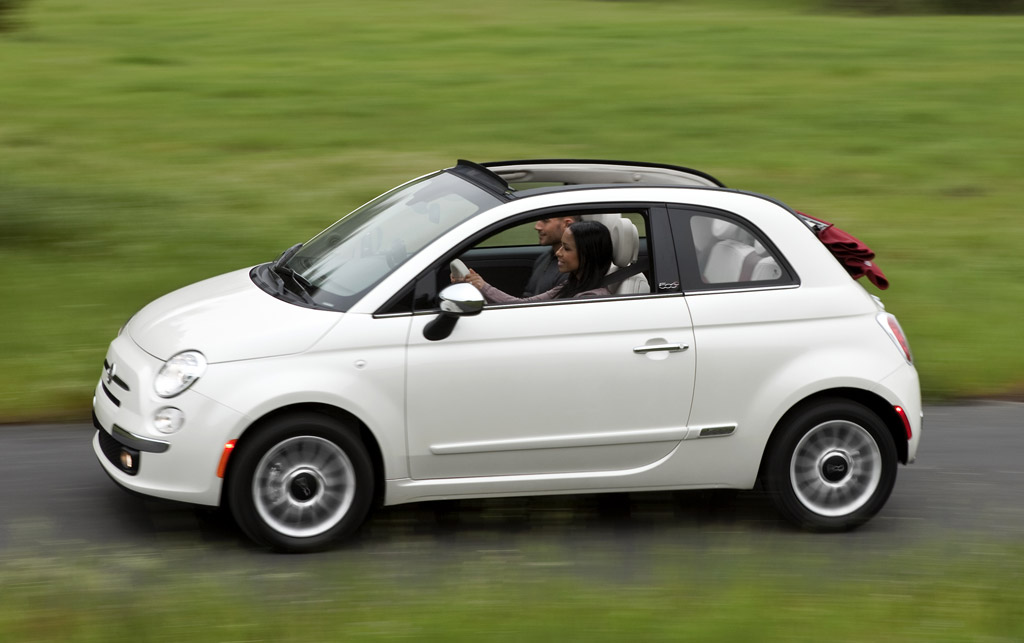 2012 fiat 500 cabriolet best gas mileage 4 seat convertible you can buy. Black Bedroom Furniture Sets. Home Design Ideas
