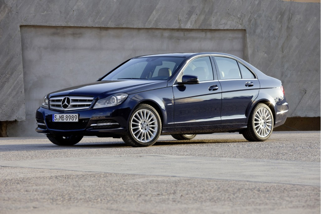 2012 mercedes benz c class sedan first look. Black Bedroom Furniture Sets. Home Design Ideas