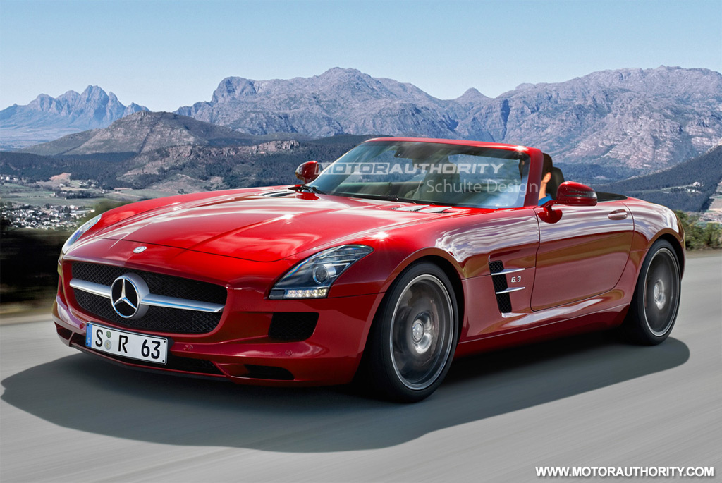 spy shots 2012 mercedes benz sls amg roadster. Black Bedroom Furniture Sets. Home Design Ideas