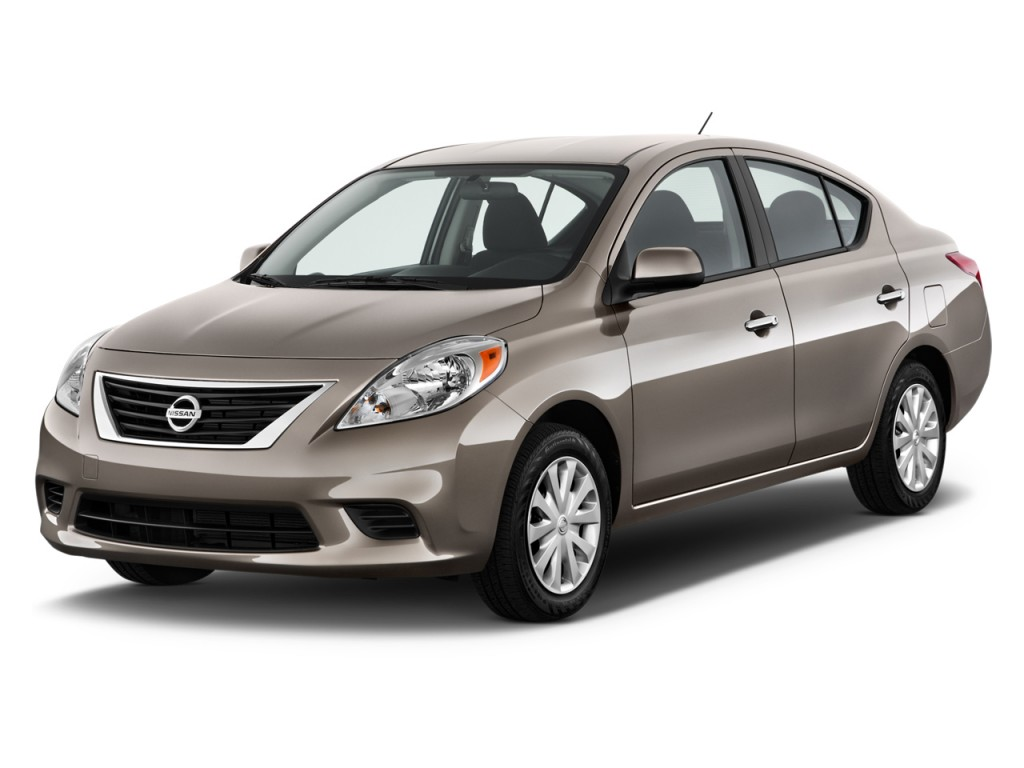 image 2012 nissan versa 4 door sedan cvt 1 6 sv angular. Black Bedroom Furniture Sets. Home Design Ideas
