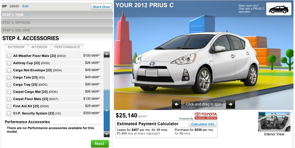 As The 2012 Toyota Prius C Goes On Sale We Spec Our Own