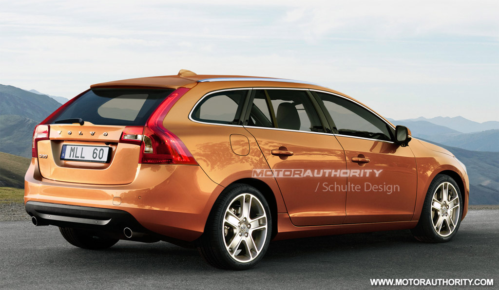 Rendered 2012 Volvo V60 Wagon