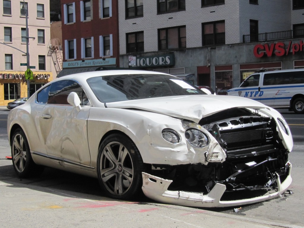 Another Wrecked Bentley Just One Of Nyc 39 S Many Car Crashes
