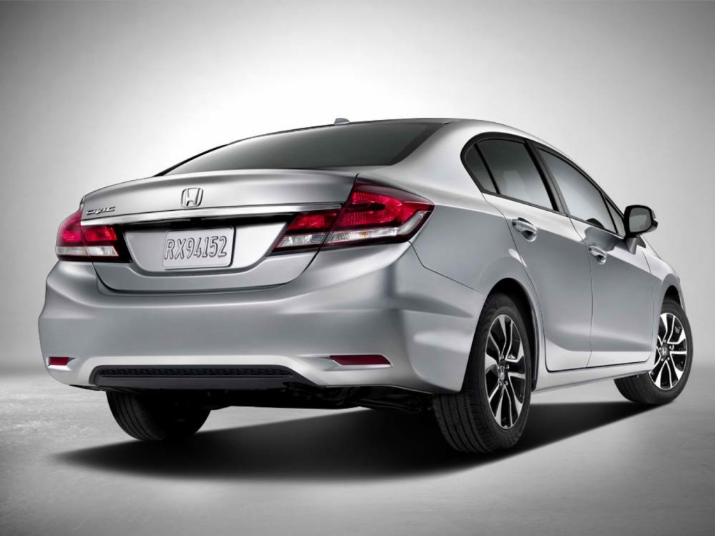 2013 honda civic updates and live photos from la auto show. Black Bedroom Furniture Sets. Home Design Ideas