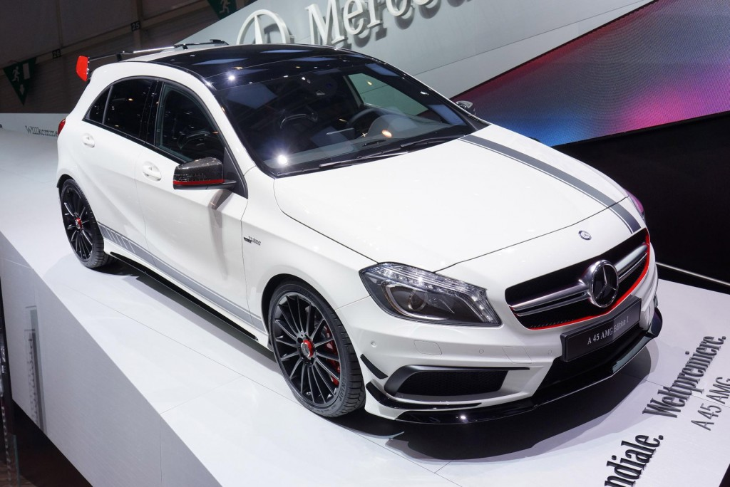 2013 mercedes benz a45 amg live photos from geneva. Black Bedroom Furniture Sets. Home Design Ideas