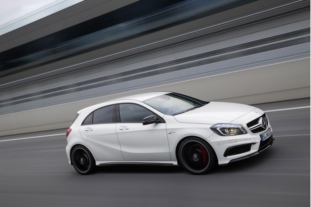 2013 mercedes benz a45 amg 360 hp through all four wheels