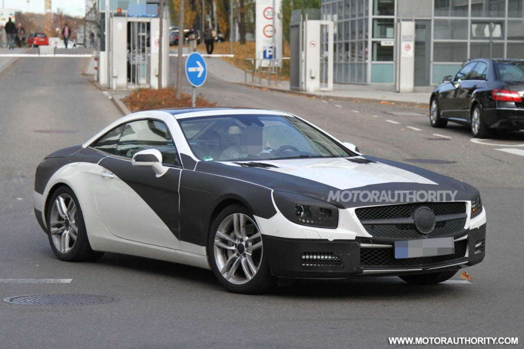 2013 mercedes benz sl class spy shots. Black Bedroom Furniture Sets. Home Design Ideas