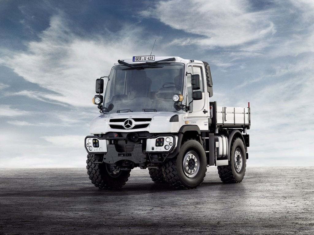Mercedes tough as nails unimog gets new look engines for for Mercedes benz trucks