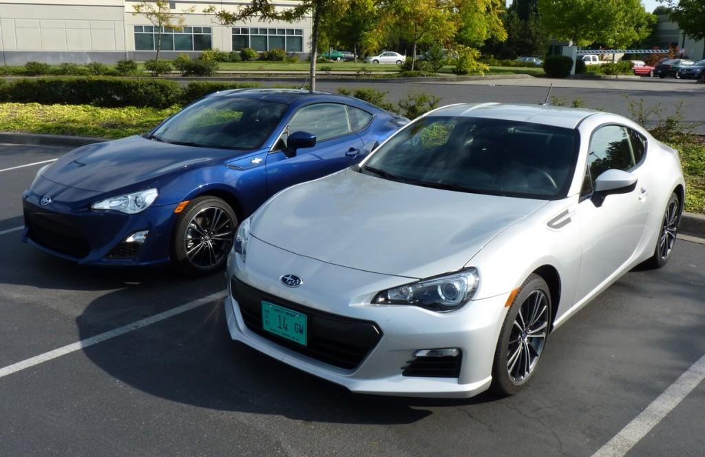 2013 subaru brz or 2013 scion fr s what s the difference. Black Bedroom Furniture Sets. Home Design Ideas