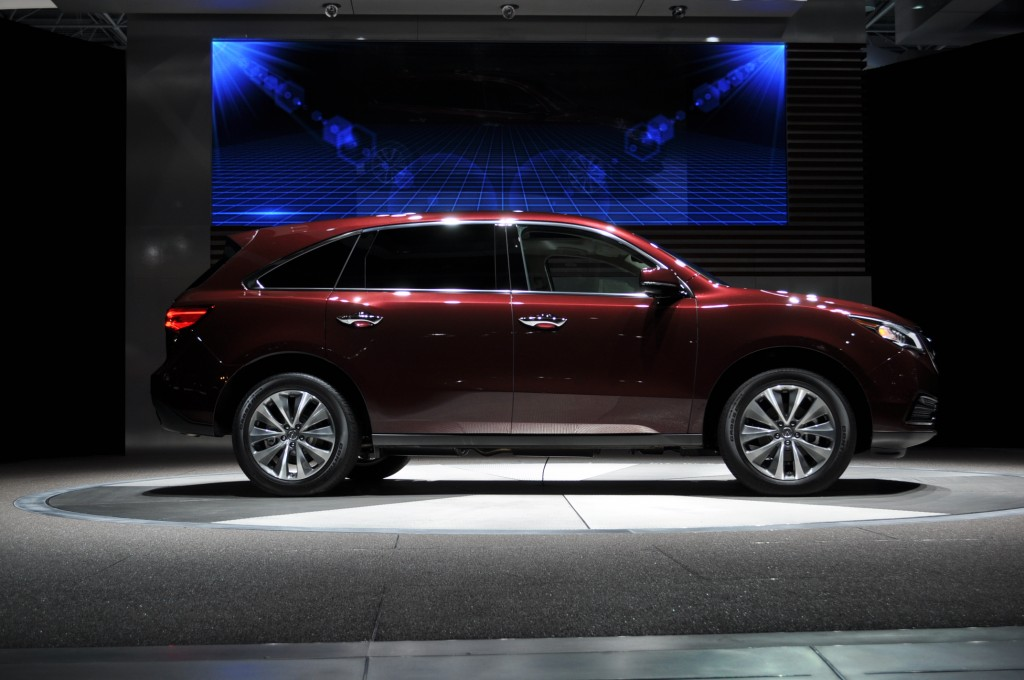 acura 39 s 2014 mdx uncovered at the new york auto show. Black Bedroom Furniture Sets. Home Design Ideas