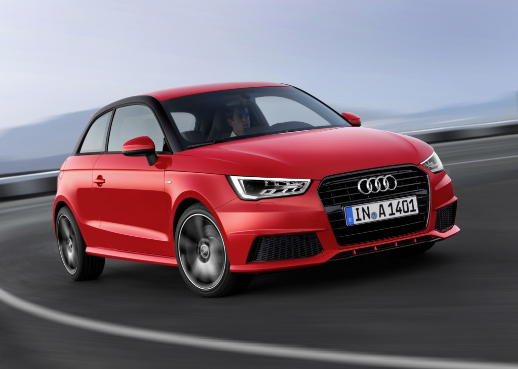 audi introduces three cylinder engines with 2014 a1. Black Bedroom Furniture Sets. Home Design Ideas