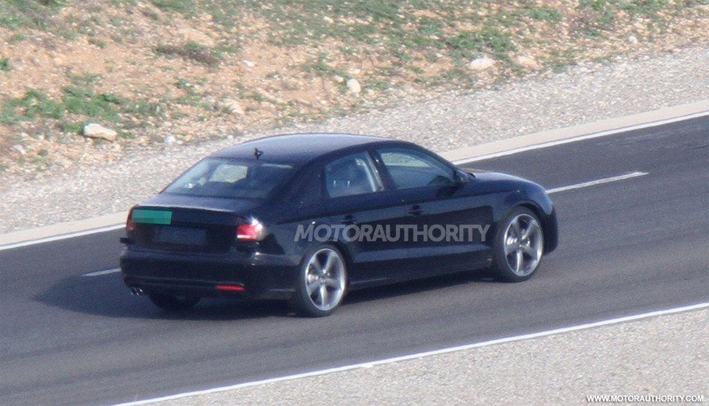 2014 audi a3 sedan spy shots. Black Bedroom Furniture Sets. Home Design Ideas