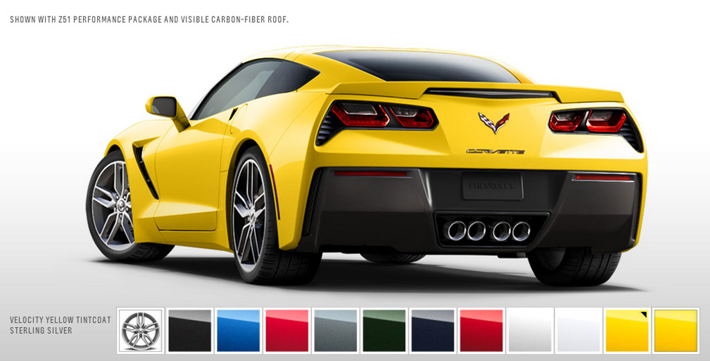 Black Corvette Stingray Special Order Car Yellow Calipers