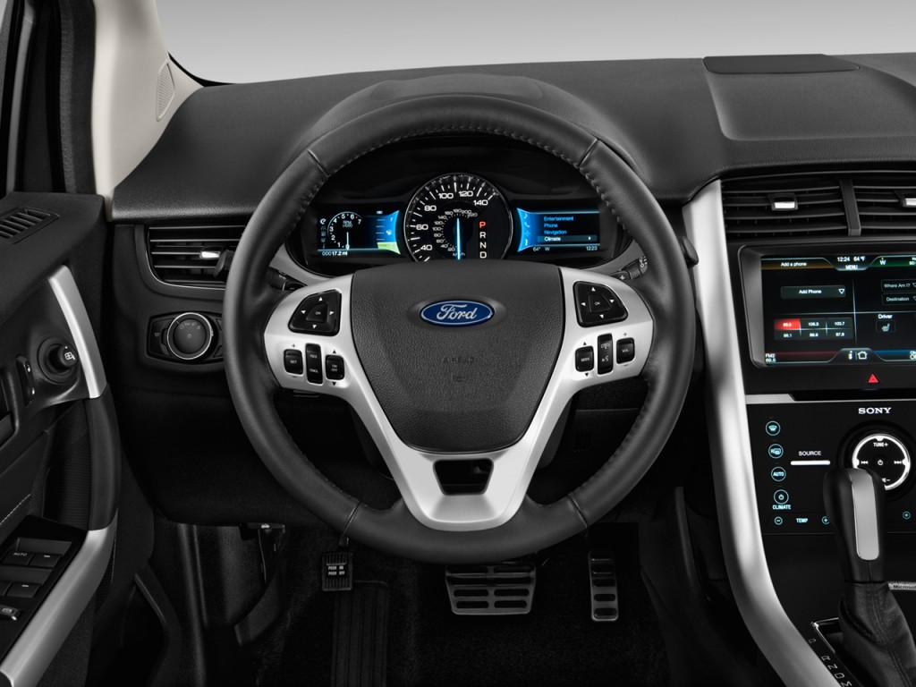image 2014 ford edge 4 door sport fwd steering wheel size 1024 x 768 type gif posted on. Black Bedroom Furniture Sets. Home Design Ideas
