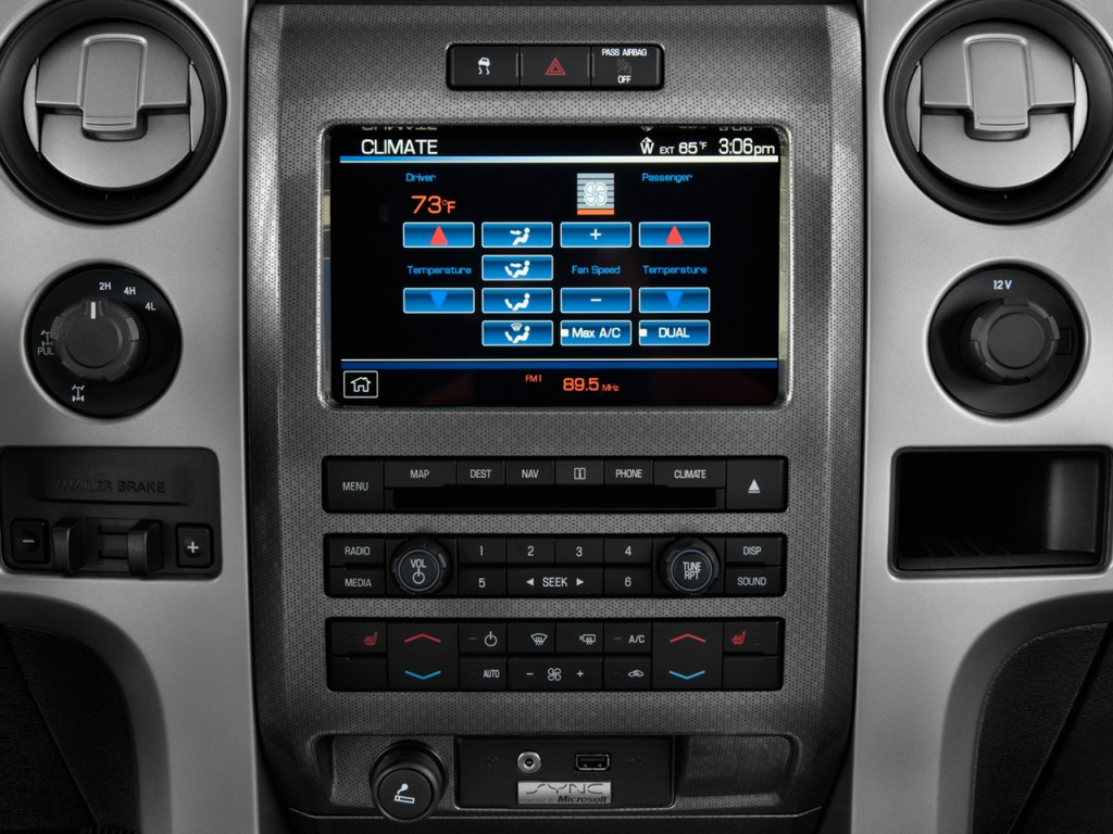 image 2014 ford f 150 4wd supercab 133 svt raptor temperature controls size 1024 x 768 type. Black Bedroom Furniture Sets. Home Design Ideas