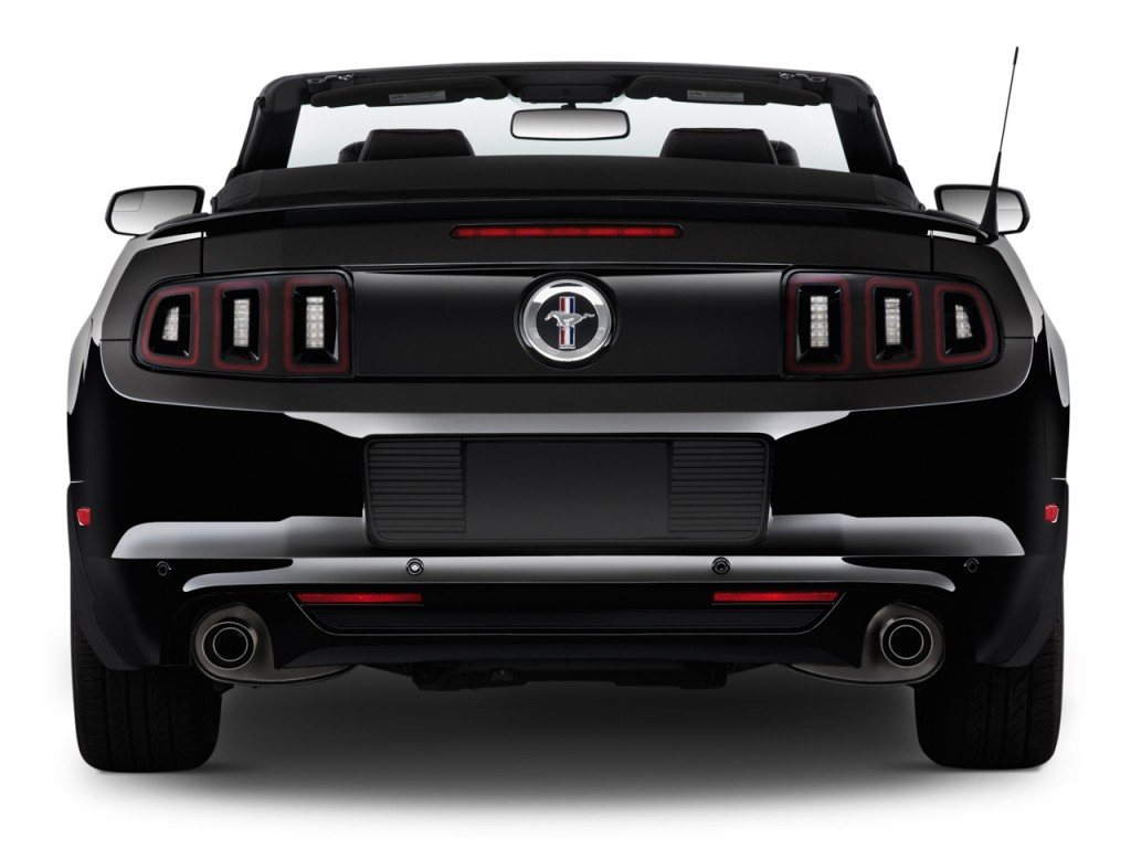 Rear Exterior View - 2014 Ford Mustang 2-door Convertible V6 Premium