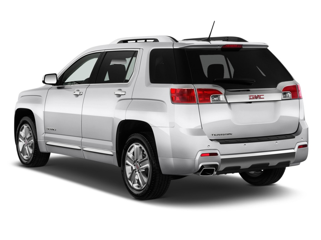 2014 GMC Terrain FWD 4-door Denali Angular Rear Exterior View