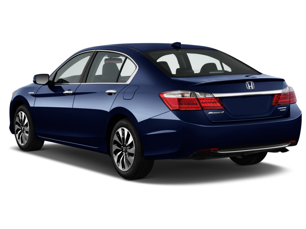 Image 2014 honda accord hybrid 4 door sedan angular rear for 2014 honda accord sedan