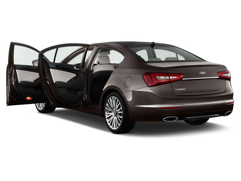 image 2014 kia cadenza 4 door sedan premium open doors. Black Bedroom Furniture Sets. Home Design Ideas