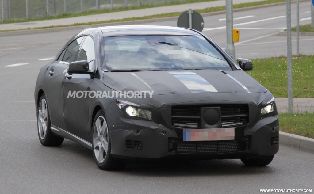 2014 mercedes benz cla class spy shots 100390575. Cars Review. Best American Auto & Cars Review