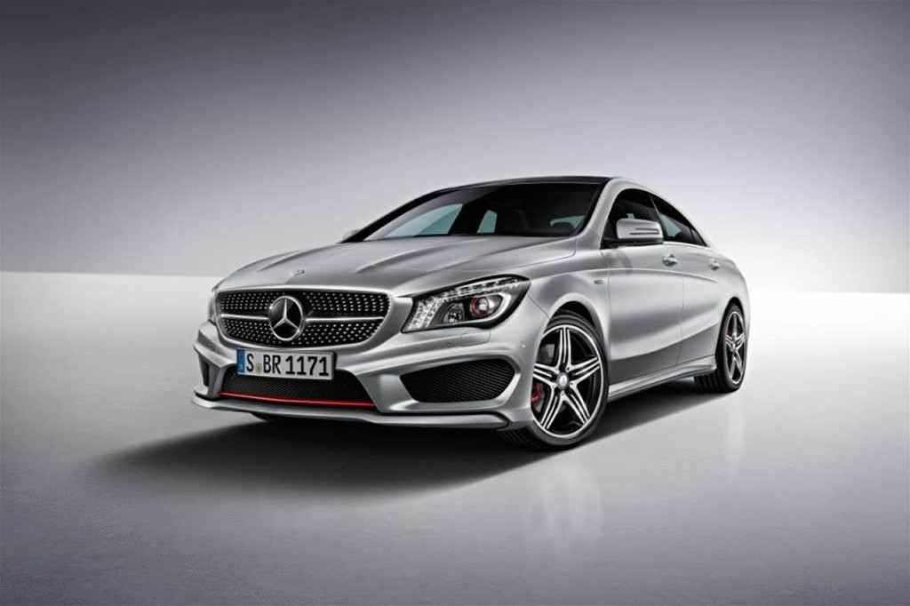 mercedes benz cla250 gets sport package plus. Black Bedroom Furniture Sets. Home Design Ideas