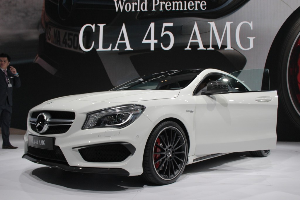 2014 mercedes benz cla45 amg new york auto show live photos for Mercedes benz of new york