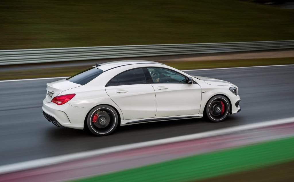 2014 mercedes benz cla45 amg 355 hp 0 60 in 4 5 and a 48 375 price. Black Bedroom Furniture Sets. Home Design Ideas