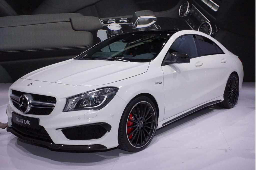 2014 mercedes benz cla45 amg new york auto show live photos for Price of a new mercedes benz