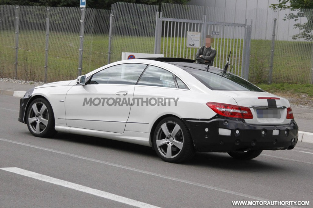 2014 Mercedes Benz E Class Coupe Facelift Spy Shots