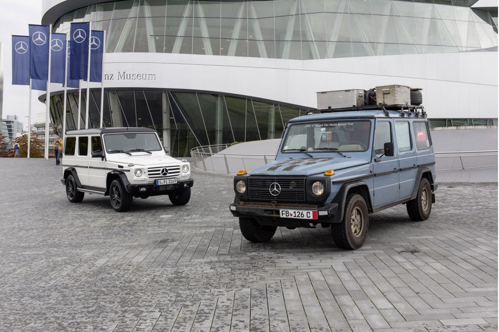 Mercedes benz celebrates 35 years of its g class for Class g mercedes benz