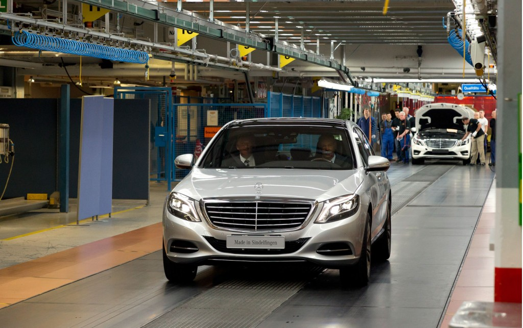 Sindelfingen Germany  city photos gallery : 2014 Mercedes Benz S Class production in Sindelfingen, Germany