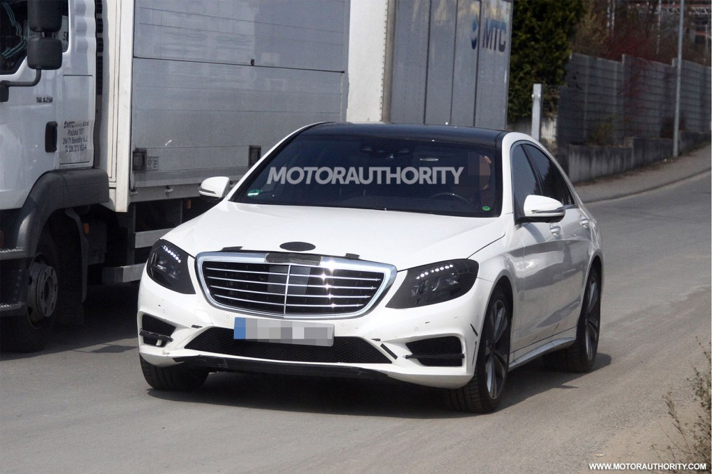 2014 mercedes benz s class revealed in new spy shots for Mercedes benz s550 price 2014