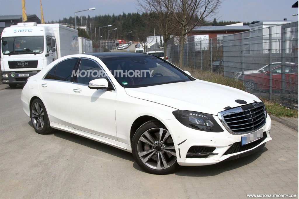 2014 mercedes benz s class revealed in new spy shots. Black Bedroom Furniture Sets. Home Design Ideas