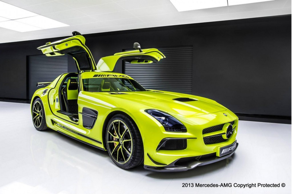 amg performance studio personalization department builds bespoke sls amg black series. Black Bedroom Furniture Sets. Home Design Ideas