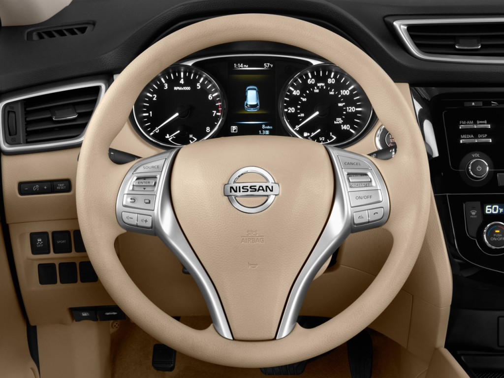 image 2014 nissan rogue fwd 4 door sv steering wheel size 1024 x 768 type gif posted on. Black Bedroom Furniture Sets. Home Design Ideas